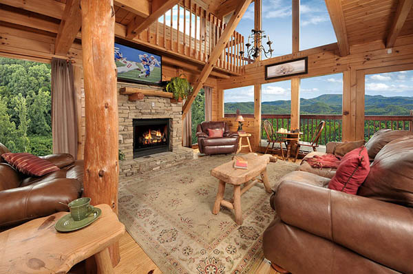 Sky 39 s the limit 3 bedroom cabin in pigeon forge with awesome views and movie theater room for 3 bedroom cabins in smoky mountains
